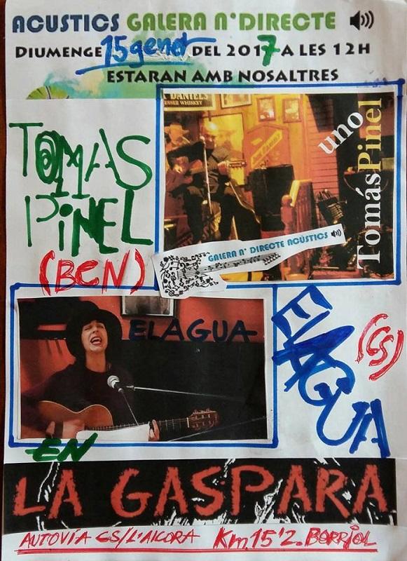 Gema Elagua - Tomás Pinel -Galera en directe